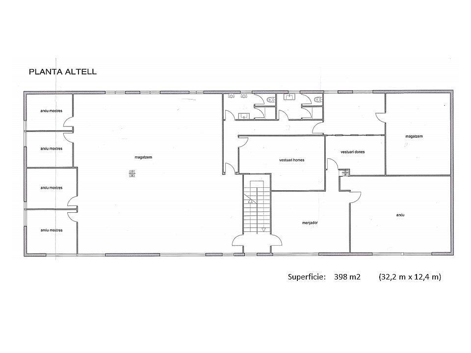 Plano - Nave industrial en alquiler en calle Crom, Centre en Hospitalet de Llobregat, L´ - 329587656