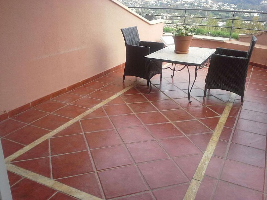 Terraza - Apartamento en alquiler en Milla de Oro en Marbella - 277713403
