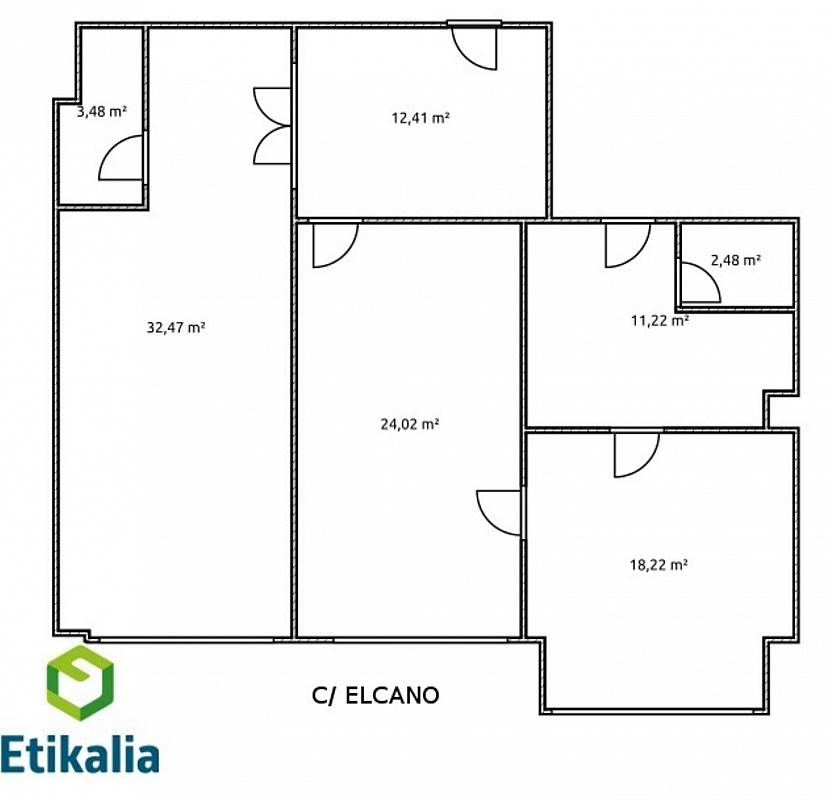 Oficina en alquiler en calle Elcano, Abando en Bilbao - 323473966