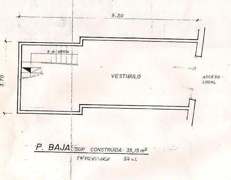 Plano - Local en alquiler en calle Parellada, Sant andreu en Barcelona - 169506363