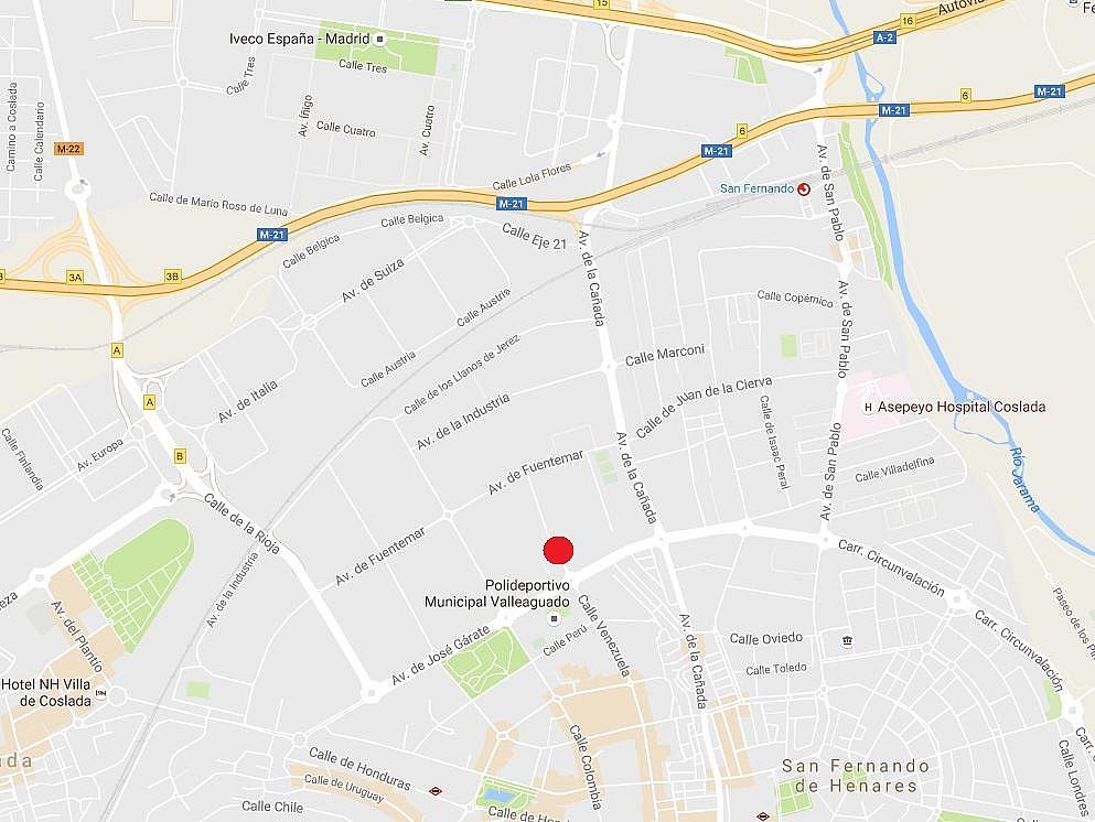 Plano - Nave industrial en alquiler en calle Tierra de Barros, Valleaguado Norte en Coslada - 325749870