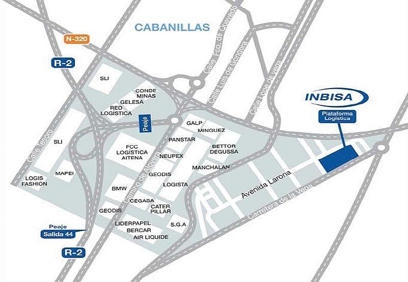 Plano - Nave en alquiler en calle Larona, Cabanillas del Campo - 329091159