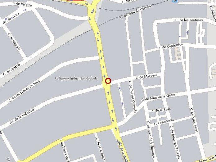 Plano - Nave industrial en alquiler en calle De la Cañada, Coslada - 54591676
