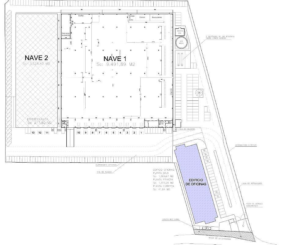Plano - Nave en alquiler en calle , Norte-Universidad en Móstoles - 156068311