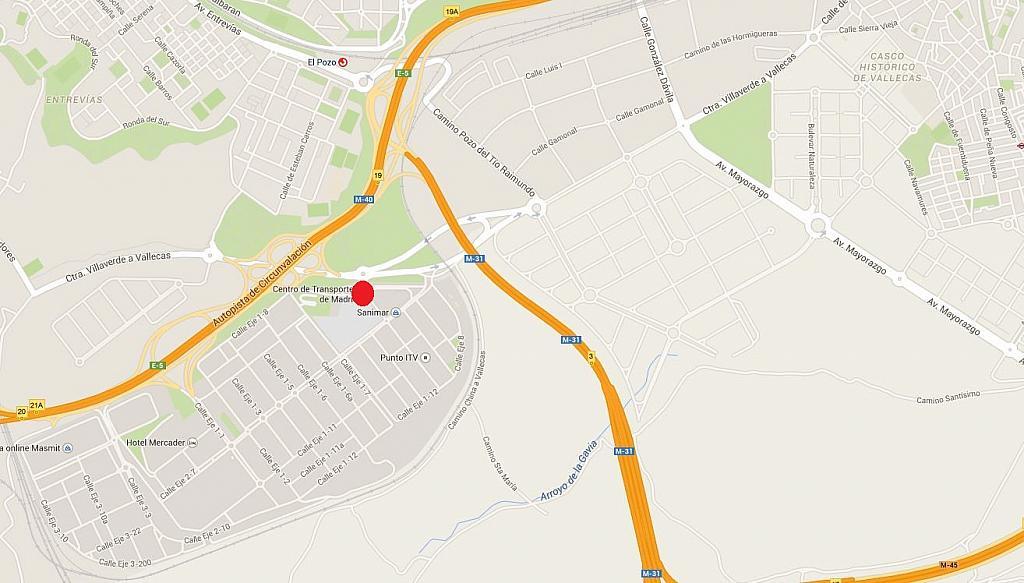 Plano - Nave industrial en alquiler en carretera Villaverdevallecas, Ensanche de Vallecas en Madrid - 175021585