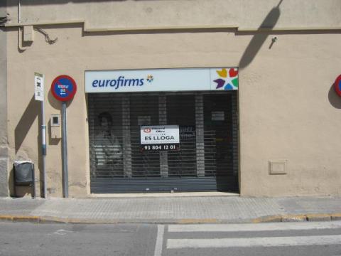 Fachada - Local comercial en alquiler en calle Santa Clara, Centre vila en Vilafranca del Penedès - 24795935