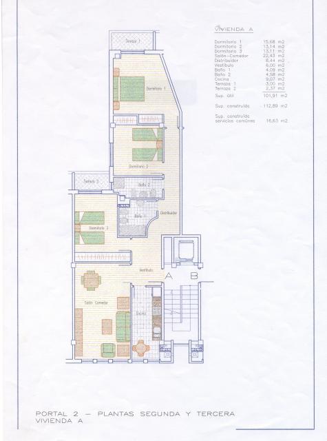 Plano - Piso en alquiler en calle Tinte, Burgos - 33760027