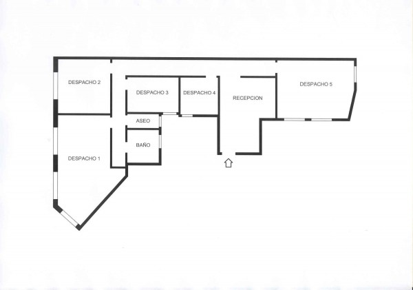Plano - Oficina en alquiler en calle Fernando El Catolico, Extramurs en Valencia - 6614643