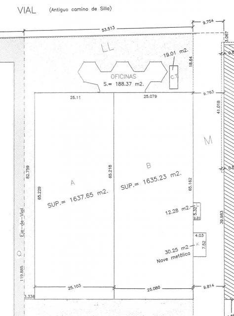 Plano - Nave industrial en alquiler en calle Argenters, Alcàsser - 28851400