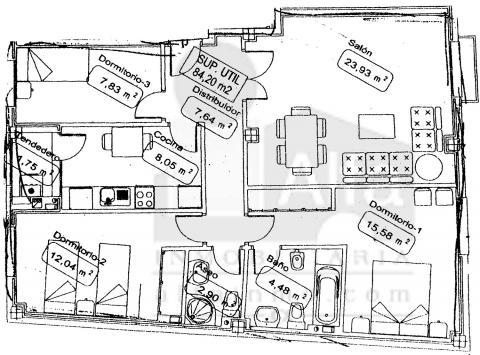 Plano - Piso en alquiler opción compra en calle Cura Santiago, Zamora - 45437679