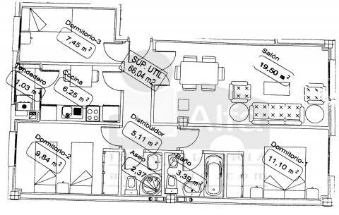 Plano - Piso en alquiler opción compra en calle Cura Santiago, Morales del Vino - 45438428
