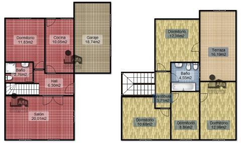 Plano - Casa pareada en alquiler opción compra en calle Aurora, Moraleja del Vino - 46931879
