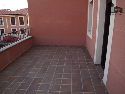 Terraza - Casa pareada en alquiler opción compra en calle Aurora, Moraleja del Vino - 46931887