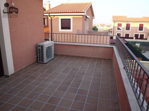 Terraza - Casa pareada en alquiler opción compra en calle Aurora, Moraleja del Vino - 46931888