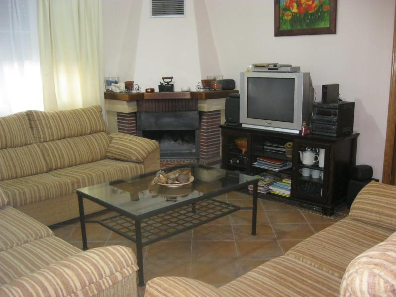 Salón - Casa rural en alquiler de temporada en calle Aquiles, Sacedón - 84869388