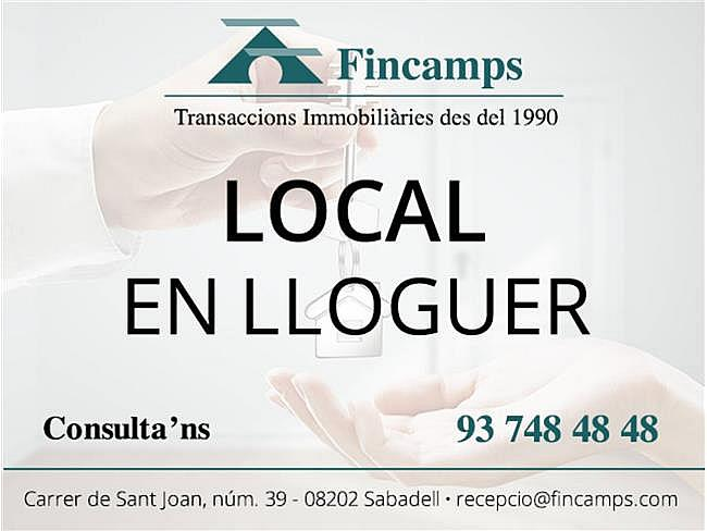 Local comercial en alquiler en Covadonga en Sabadell - 361152241