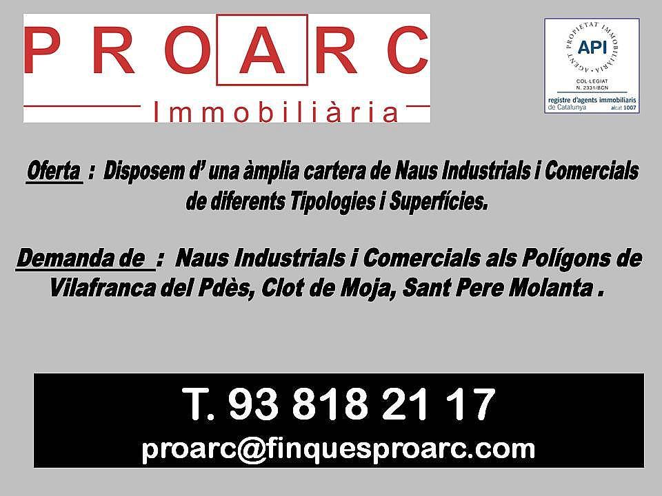 Nave industrial en alquiler en polígono Industrial, Centre vila en Vilafranca del Penedès - 205227219