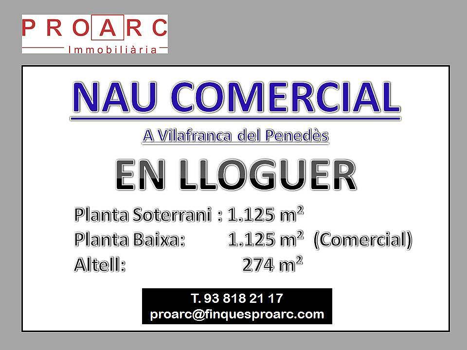 Nave industrial en alquiler en calle Pi Comercialindustrial, Centre vila en Vilafranca del Penedès - 172906815