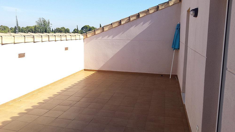 Terraza - Ático-dúplex en alquiler de temporada en calle Ermita Nova, Godella - 331321525