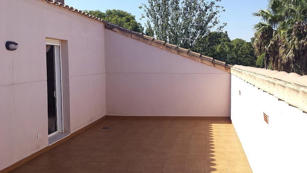Terraza - Ático-dúplex en alquiler de temporada en calle Ermita Nova, Godella - 331321527