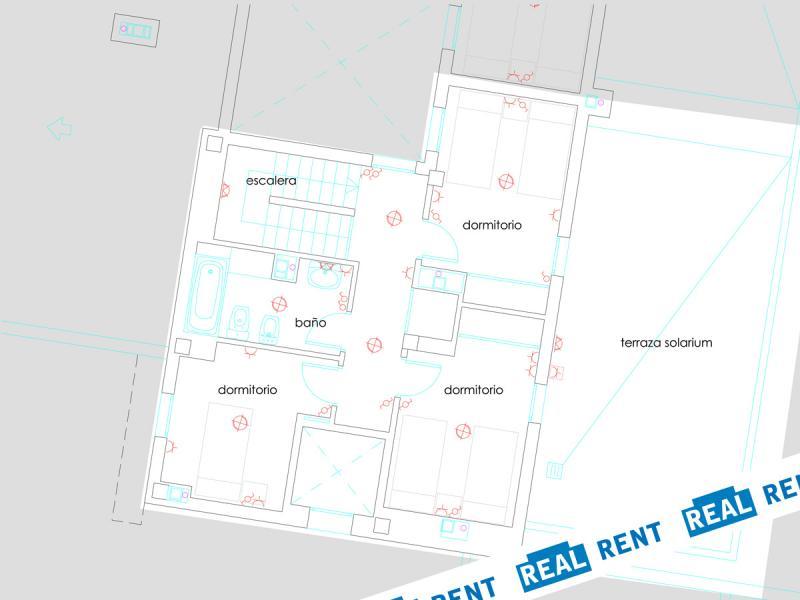 Plano - Apartamento en alquiler de temporada en calle Ermita Nova, Godella - 89959655