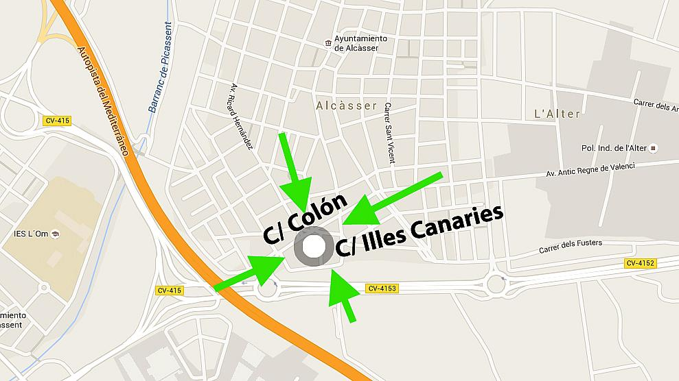Plano - Garaje en alquiler en calle Illes Canaries, Alcàsser - 238563433