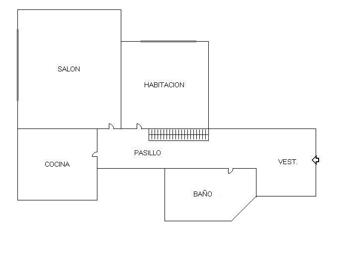 Plano - Piso en alquiler en calle Federico Moreno Torroba, Pacífico en Madrid - 278573220