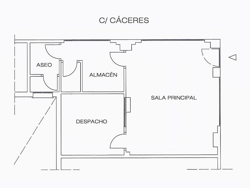 Plano - Local en alquiler en calle Cáceres, Centro-Casco Antiguo en Alcorcón - 323482479