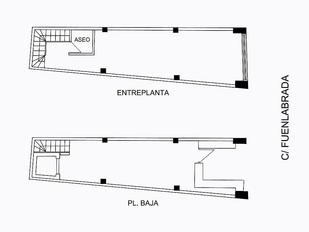 Plano - Local comercial en alquiler en calle Fuenlabrada, Centro-Casco Antiguo en Alcorcón - 194165503
