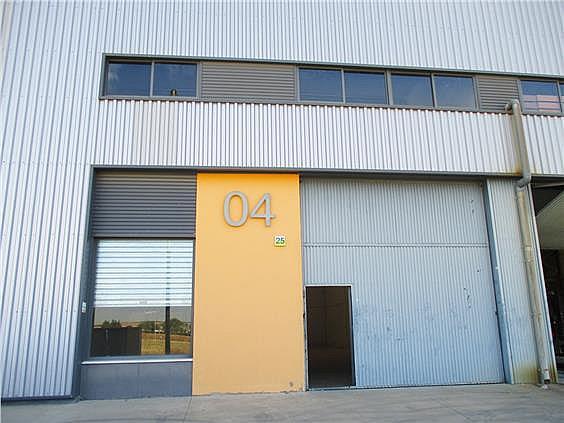 Fachada con escaparate, persiana de seguridad y portón metálico abatible - Local en alquiler en calle Herradores, Carrión de los Céspedes - 333487899
