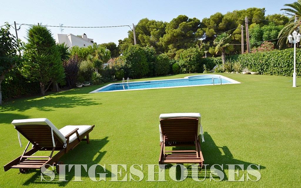 Jardín - Casa en alquiler en calle Josep Planas I Robert, Terramar en Sitges - 263611452