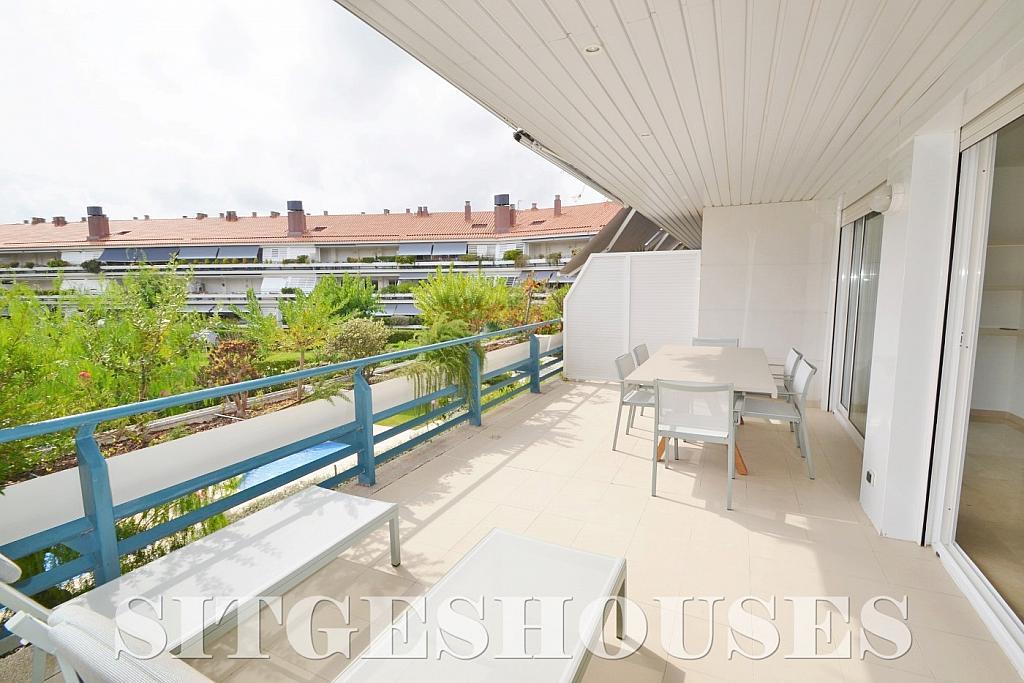 Terraza - Piso en alquiler en paseo Maritimo, Terramar en Sitges - 311815099