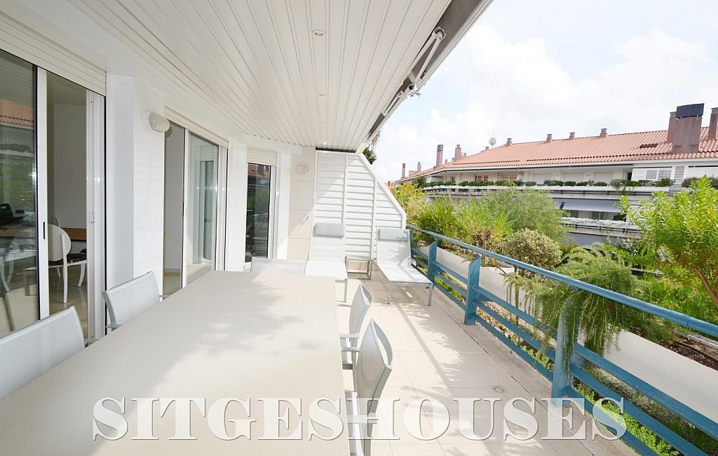 Terraza - Piso en alquiler en paseo Maritimo, Terramar en Sitges - 311815101