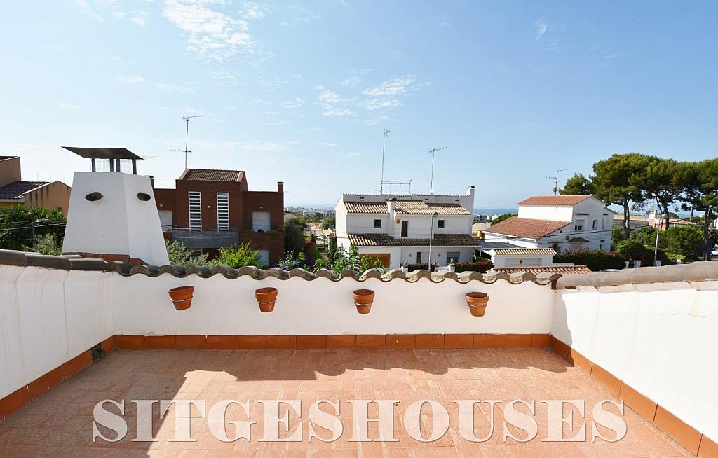 Terraza - Casa en alquiler en calle Manuel de Falla, Vallpineda en Sitges - 294490677