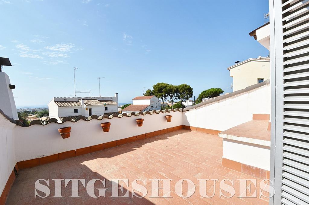 Terraza - Casa en alquiler en calle Manuel de Falla, Vallpineda en Sitges - 294490689