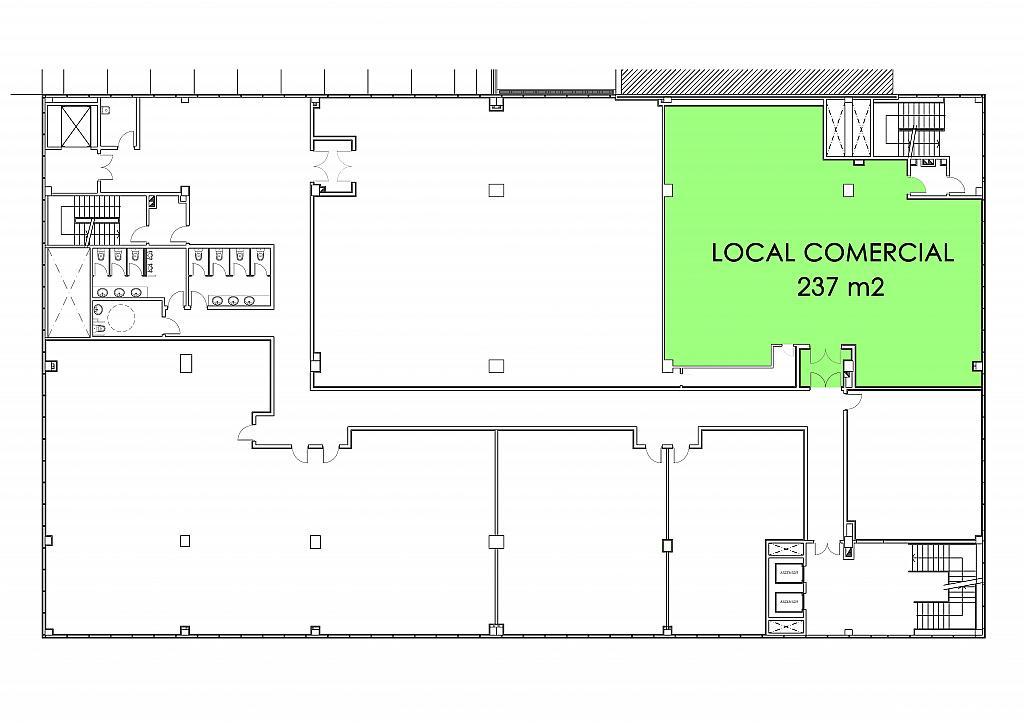Plano - Local comercial en alquiler en calle De la Libertad, San Jose-Valderas-Parque Lisboa en Alcorcón - 301337048