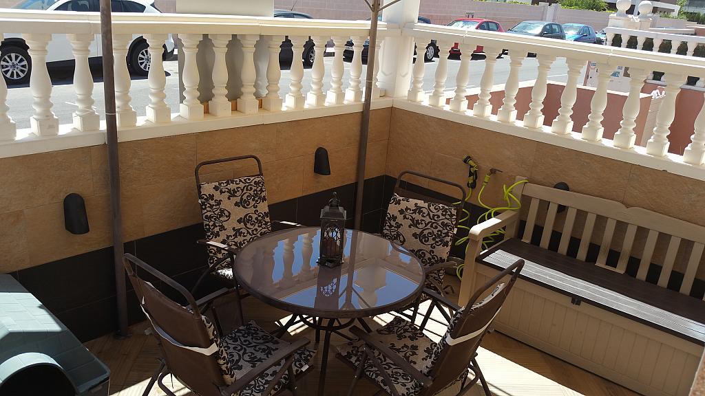 Jardín - Casa adosada en alquiler opción compra en calle Creta, Gran Alacant en Santa Pola - 317180315