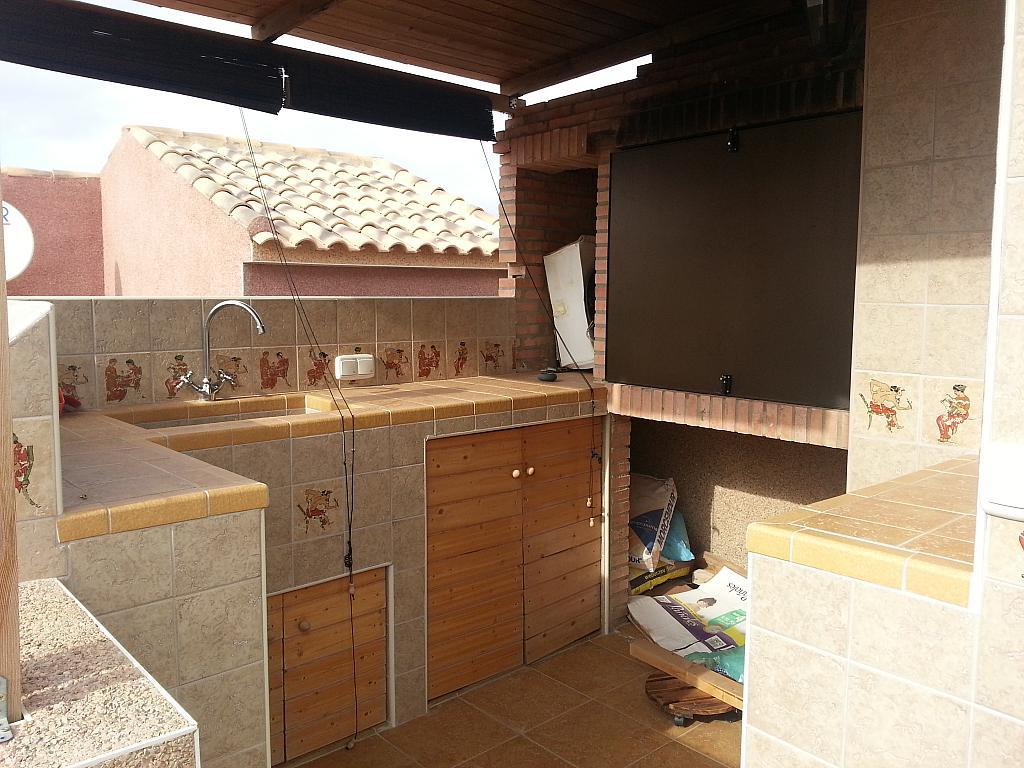 Terraza - Casa adosada en alquiler opción compra en calle Creta, Gran Alacant en Santa Pola - 317180339