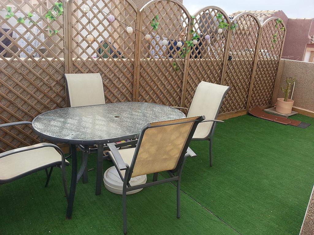 Terraza - Casa adosada en alquiler opción compra en calle Creta, Gran Alacant en Santa Pola - 317180342