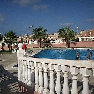Piscina - Casa adosada en alquiler opción compra en calle Creta, Gran Alacant en Santa Pola - 317180345