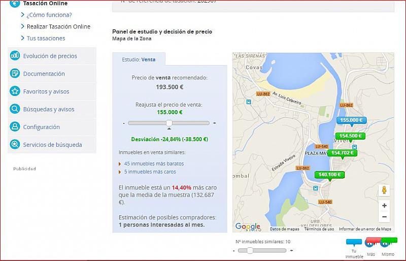 Plano - Piso en venta en calle Lodeiro, Viveiro - 284833065