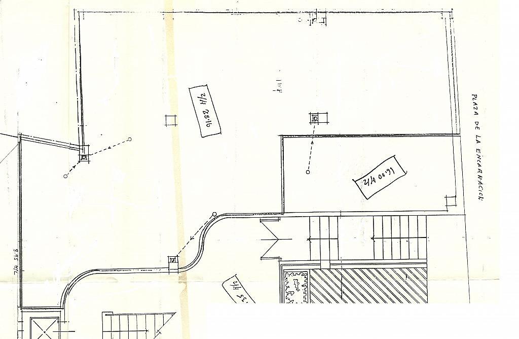Plano - Local comercial en alquiler en plaza Encarnación, Centro en Granada - 316023319