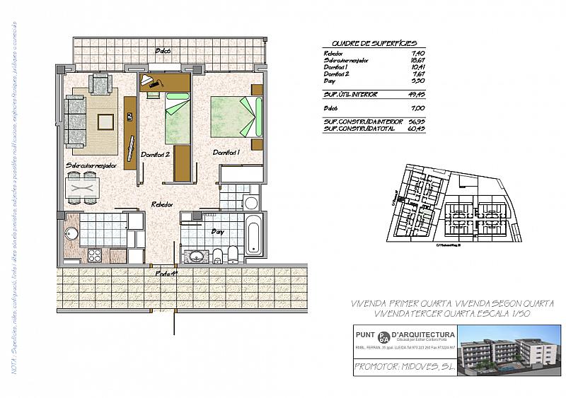 Plano - Piso en alquiler en calle Devesa, Alcarràs - 211935450