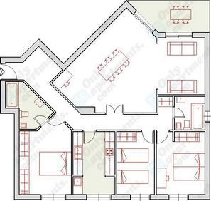 Plano - Piso en alquiler de temporada en calle Profesor Lopez Piñeiro, Valencia - 106713644
