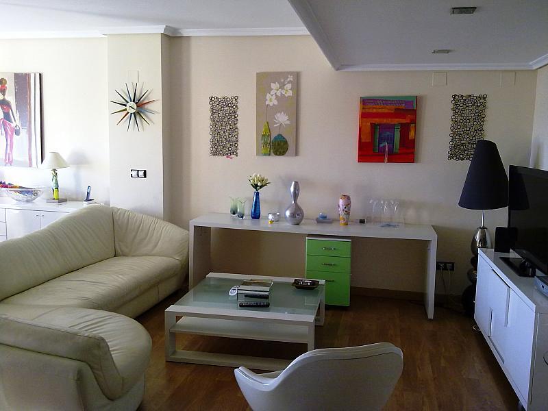 Salón - Apartamento en alquiler de temporada en calle Paseo de la Alameda, Valencia - 127165899