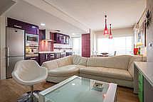 Salón - Apartamento en alquiler de temporada en calle Paseo de la Alameda, Valencia - 194023837