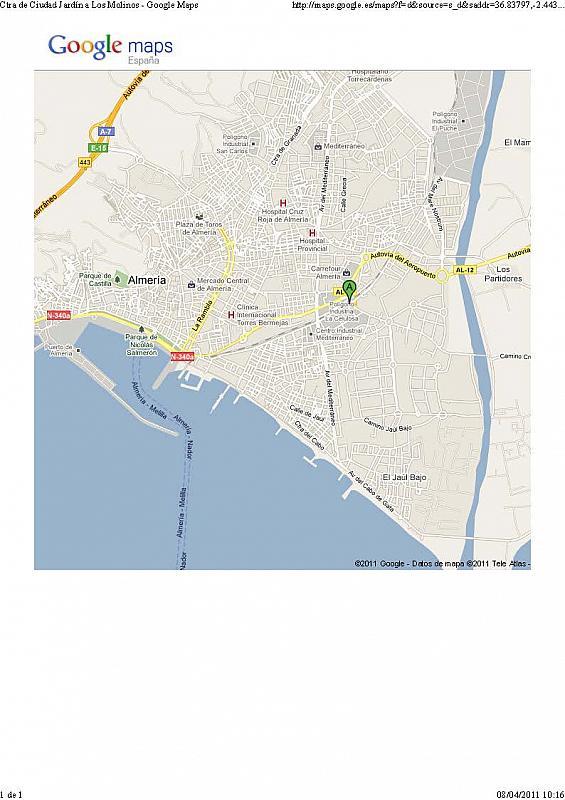 Plano - Nave en alquiler en calle Sierra Alhamilla, Ciudad Jardin en Almería - 323046254