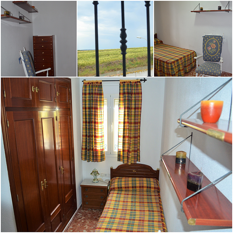 Dormitorio - Casa adosada en alquiler en calle Pablo Neruda, El Lugar en Chiclana de la Frontera - 271894918