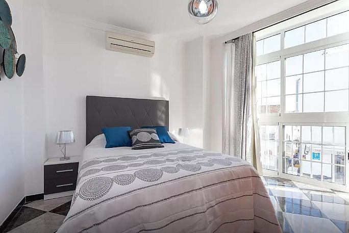 Dormitorio - Apartamento en alquiler de temporada en calle Vendimiadores, Conil de la Frontera - 280711866