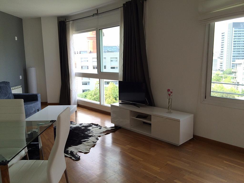 Salón - Apartamento en alquiler en pasaje Taulat, Diagonal Mar en Barcelona - 291129423